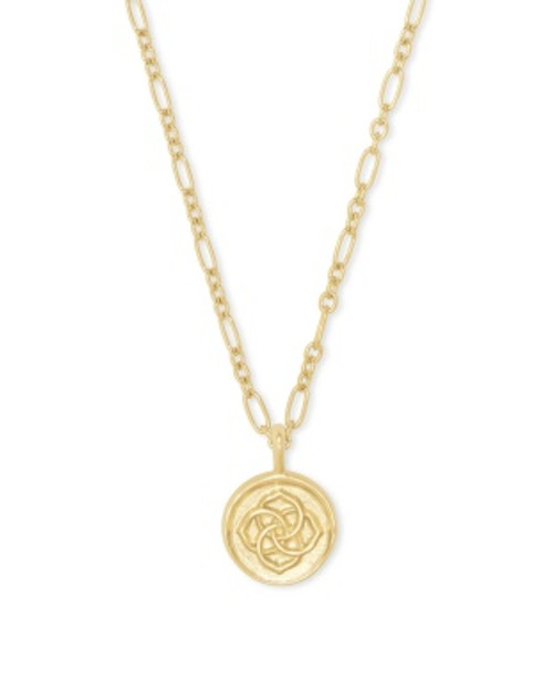 Dira Coin Gold Pendant Necklace