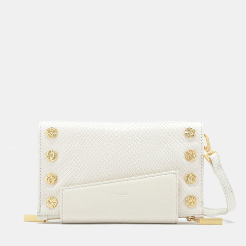 Levy Marshmallow White Snake Clutch Wallet