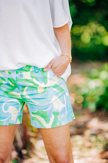 Pleased To Meet You Blue Shorts