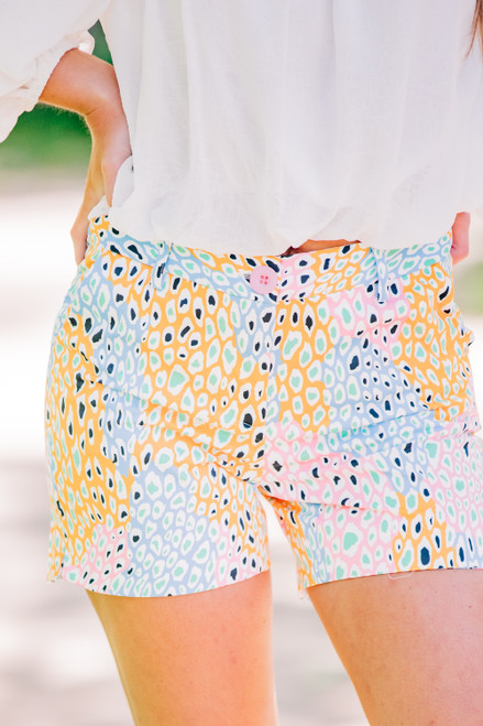 Pleased To Meet You Animal Print Shorts