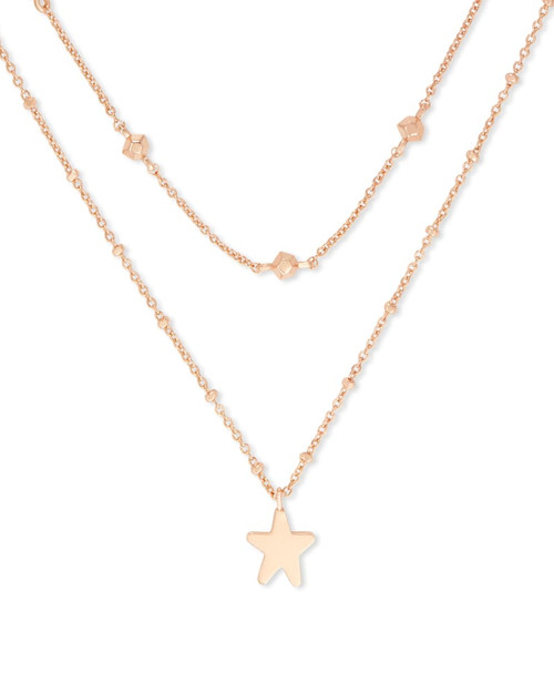 Jae Star Multi Strand Necklace In Rose Gold