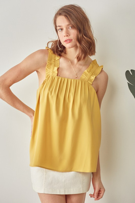 Full Of Frills Butter Top