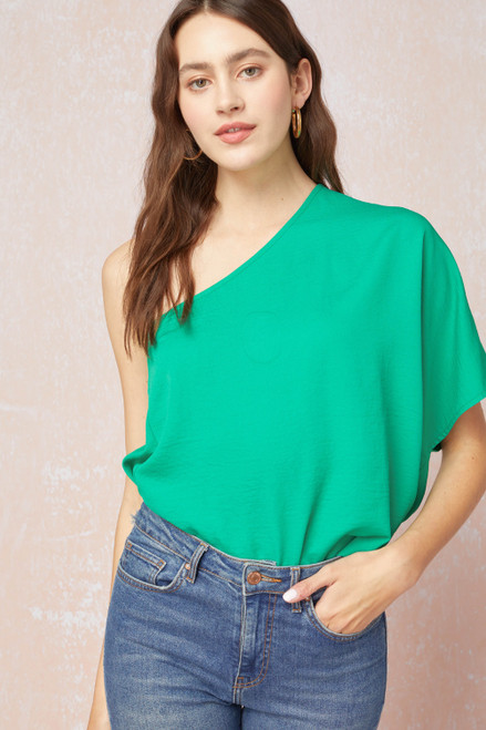 Willow Short Sleeve Green Top