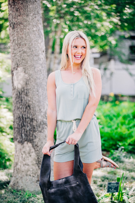 On The Rise Sage Romper