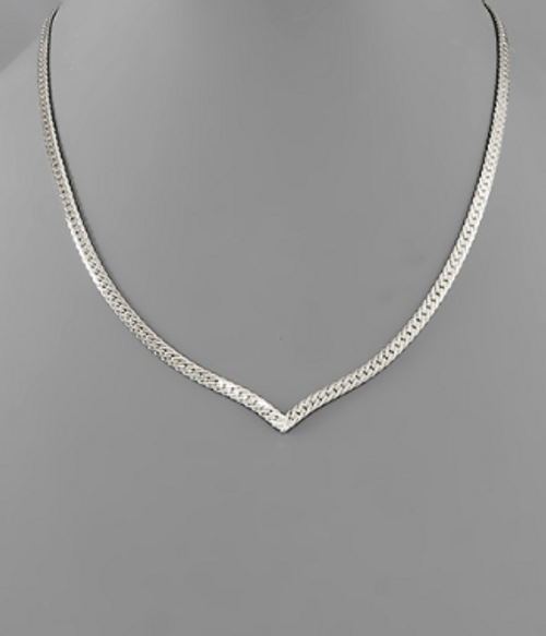 In The Valley Silver Necklace