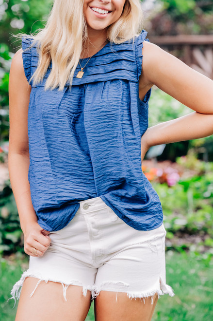 Perfect Love Blue Top