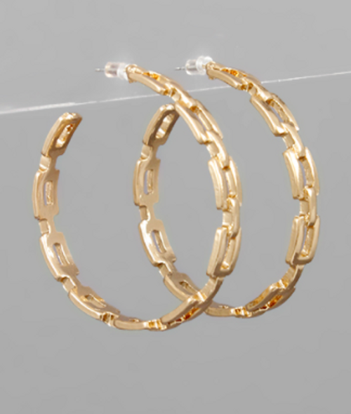 Stand Tall Gold Hoops