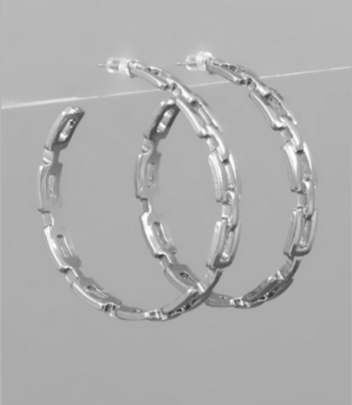Stand Tall Silver Hoops