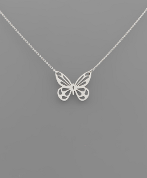 Up & Away Silver Necklace
