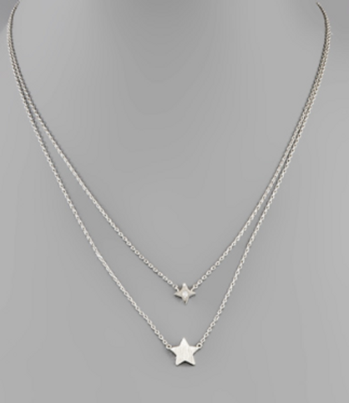 Star Gazing Silver Necklace
