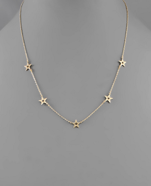 Spaced Out Gold Necklace
