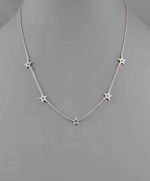 Spaced Out Silver Necklace