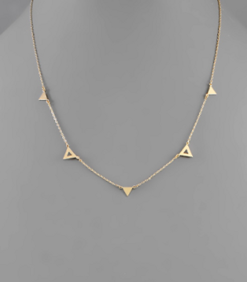 To The Point Gold Necklace