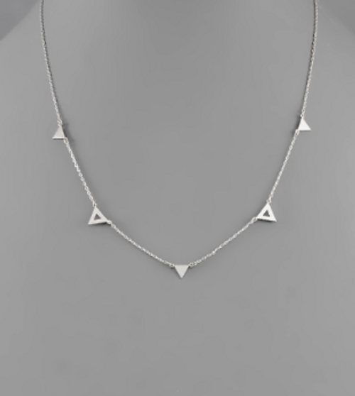 To The Point Silver Necklace