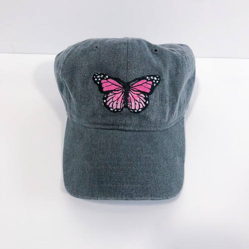 Butterfly Patch Washed Navy Cap
