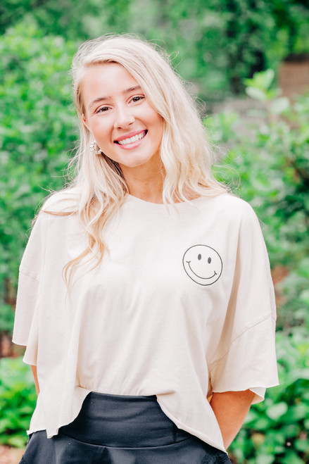 All About You Smiley Tee