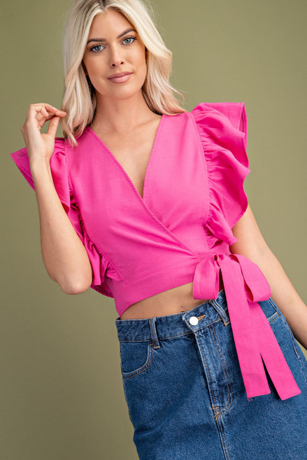 By Your Side Hot Pink Top