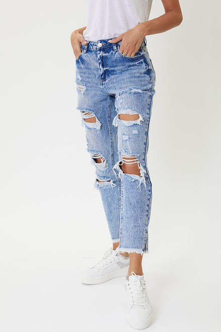 Collie High Rise Mom Jeans