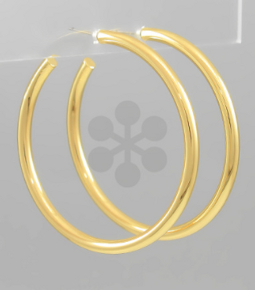 Here To There Gold Hoops