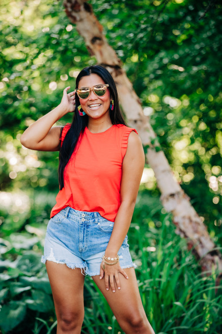 The Kimmi Red Top