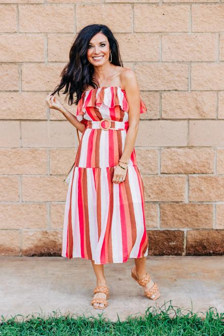 Beautifully Bold Midi Dress