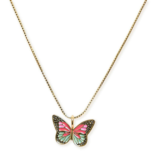 Shay Pink Butterfly Necklace