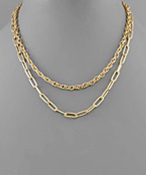 Keep Moving Gold Necklace