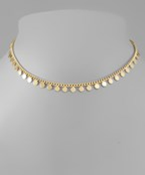 Choose Happy Gold Necklace