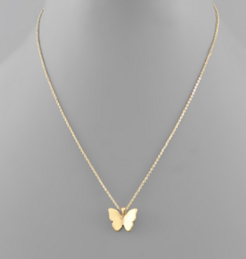 Above The Clouds Gold Necklace