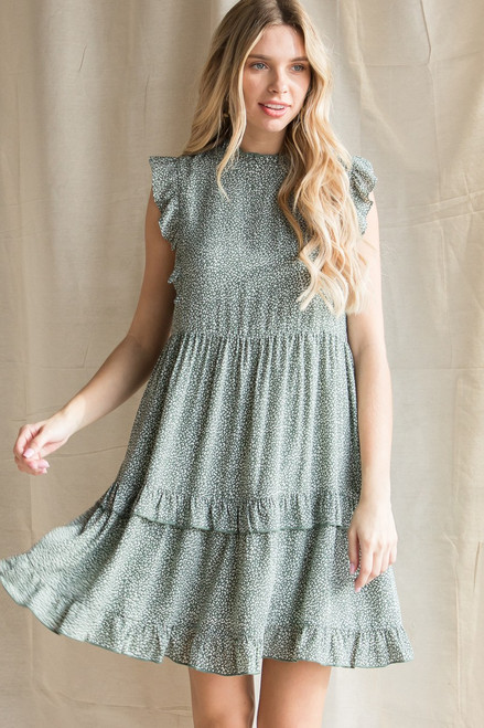 Sunny All Day Sage Dress