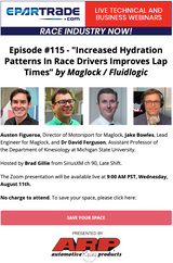 """EPARTRADE Webinar: """"Increased Hydration Patterns in Race Drivers Improves Lap Times"""" by Maglock/Fluidlogic"""