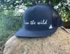 I Am The WIld Flat Bill Hat in Navy