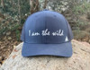 I Am The WIld Curved Bill Hat in Navy
