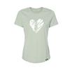 Women's Heart Tree Tee in Heather Sage