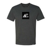 Men's Square Logo Tee in Charcoal