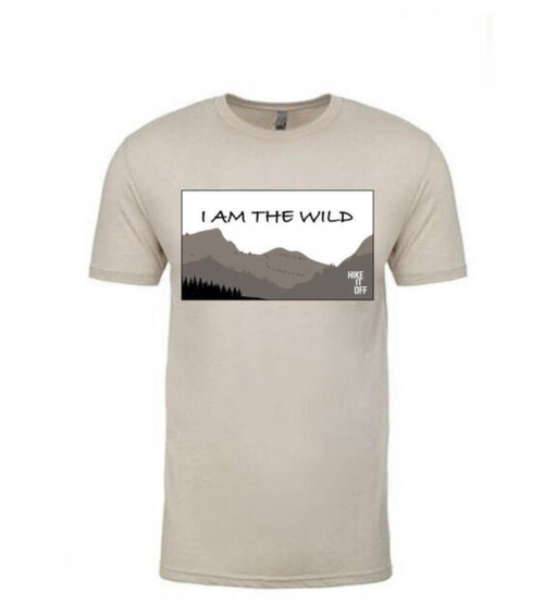 I Am The Wild Men's Tee in Sand