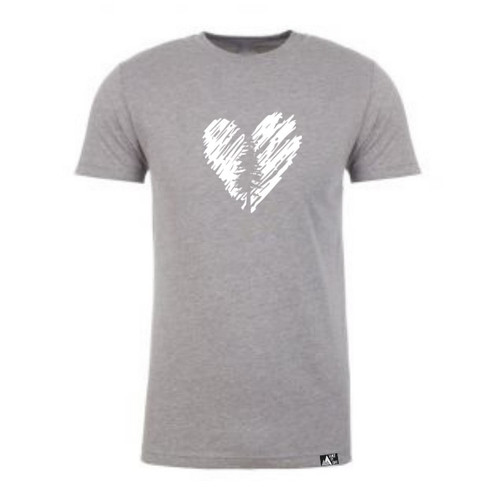 Men's Heart Tree Tee in Dark Heather Grey