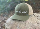 I Am The WIld Curved Bill Hat in Moss & Tan