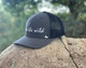 I Am The Wild Curved Bill Hat in Slate & Black