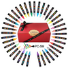 Uniball Posa PC-5M (PC5M) Paint Marker Pen In A Bundle Of 39 Colours - posca marker pen, uni ball | PoscART
