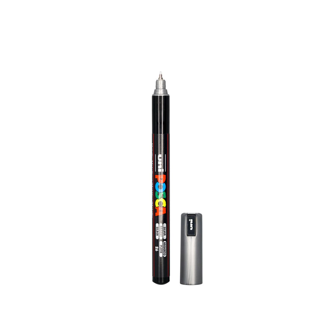 Uni Posca Paint Pen Silver Metallic Pc.5m X 1 Marker Free Postage Silver