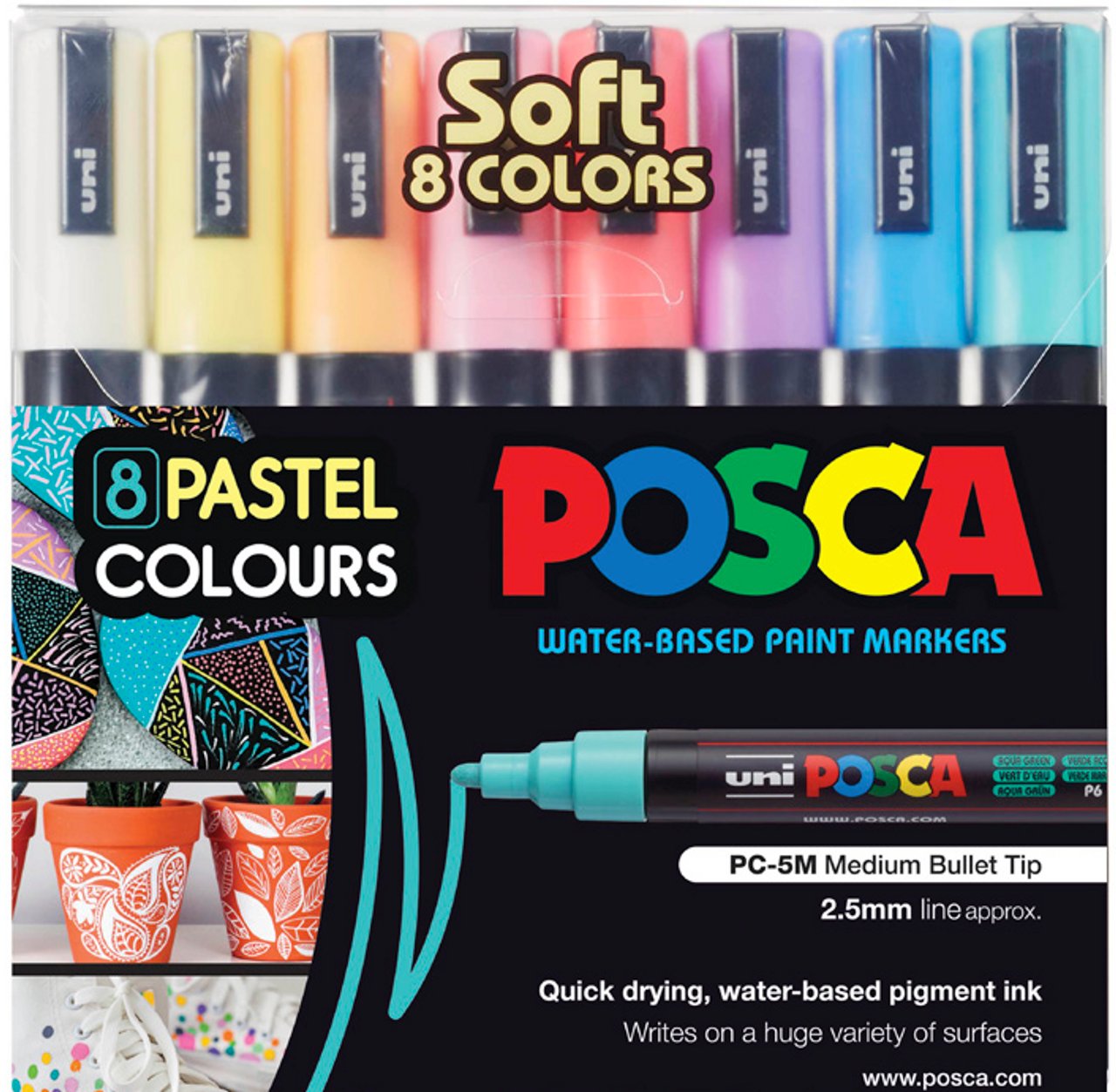 Size 3M Uni Posca Paint Marker WITHIN RANGE Bundle Set 18 PENS!