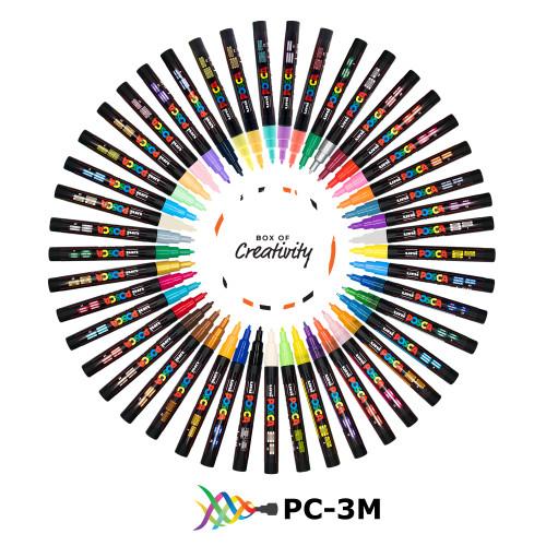 Uniball POSCA PC-3M (PC3M) Pen In A Bundle Of 45 Colours -  posca markers, posca chalk marker | PoscART