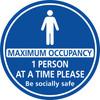 1 Person Maximum Occupancy floor sticker