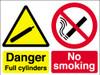 Danger full cylinders No smoking sign