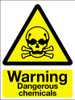 Warning dangerous chemicals sign