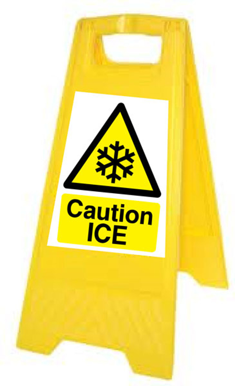 Caution Ice yellow A Board
