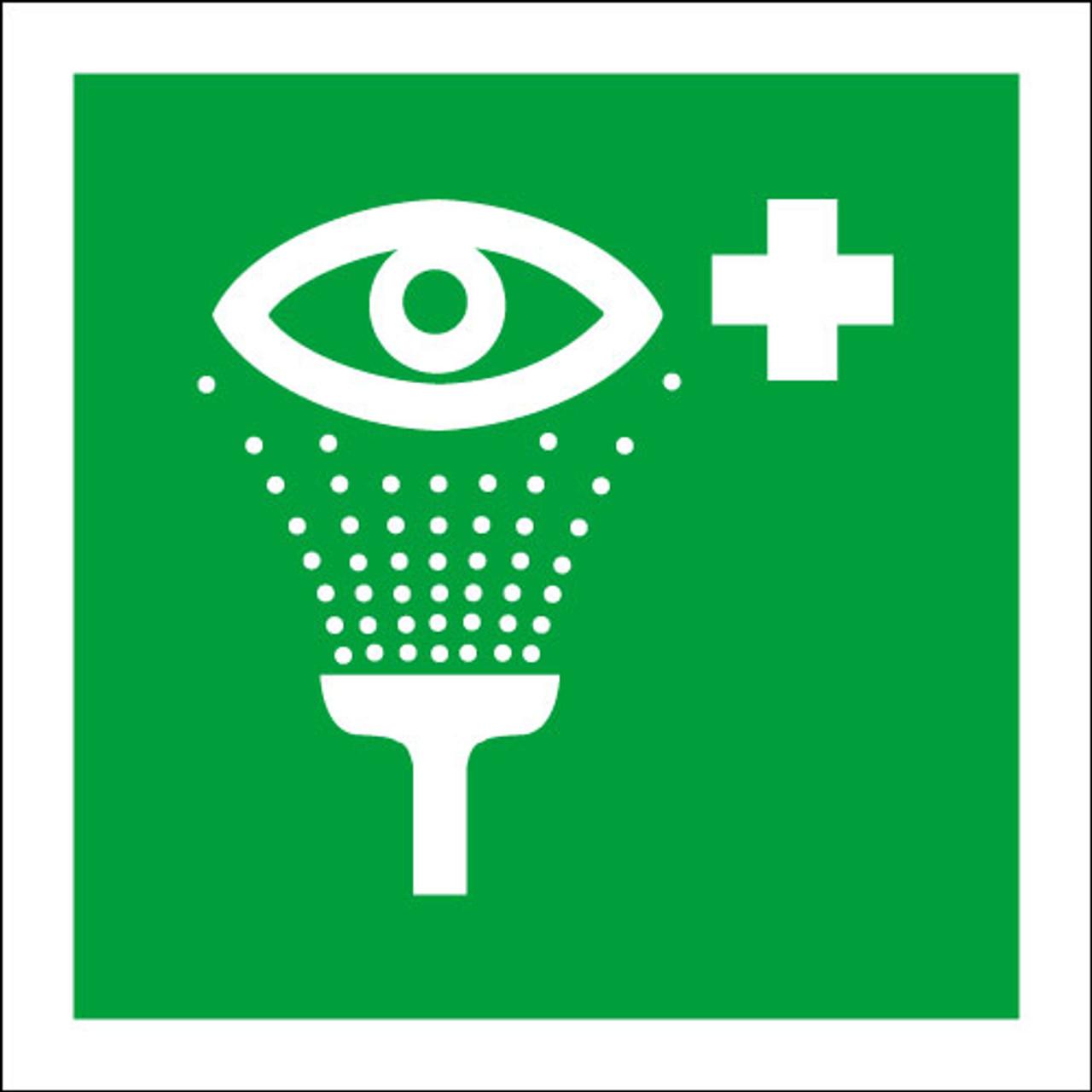 Eye wash safety sign