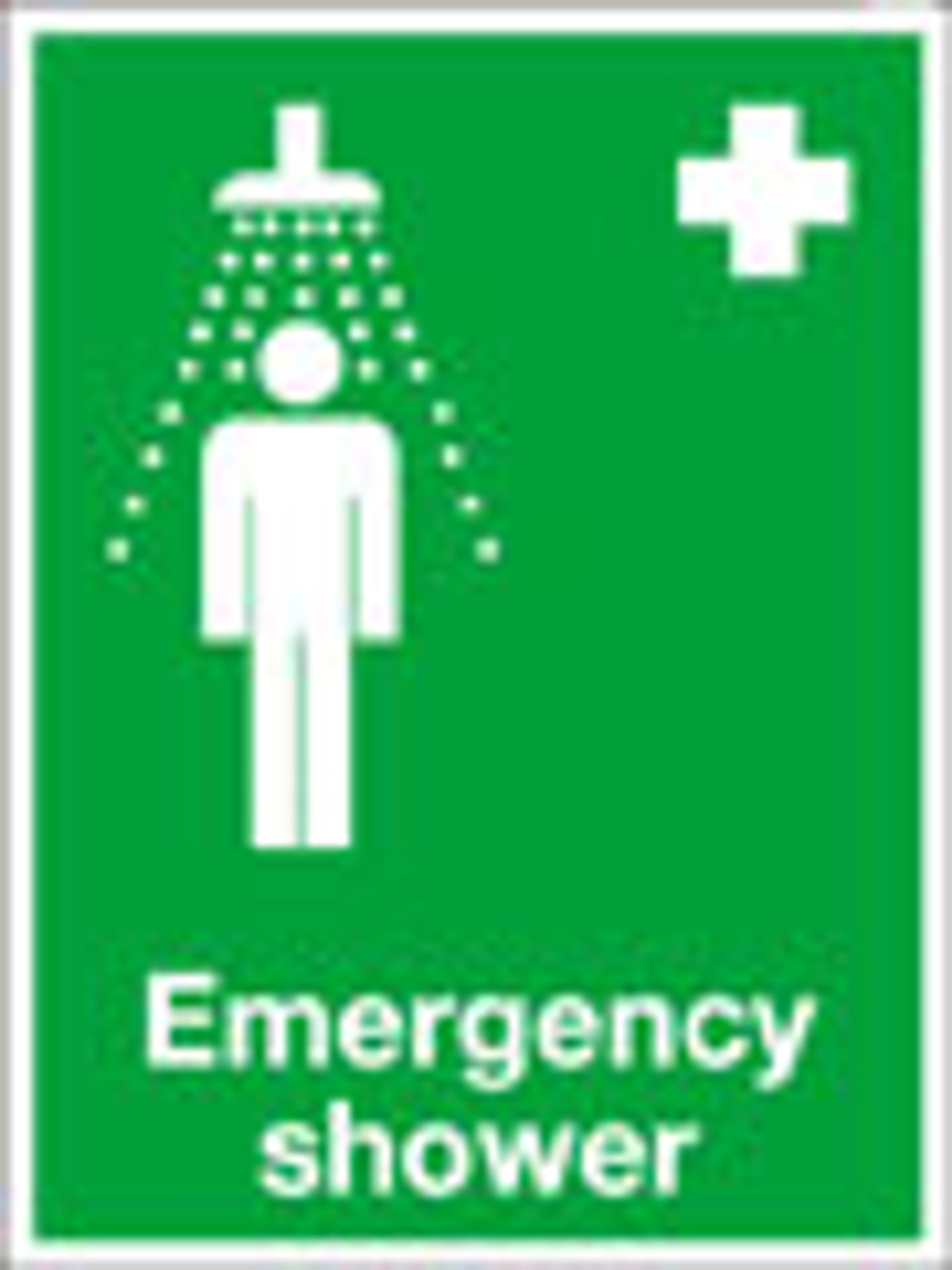 Emergency shower sign