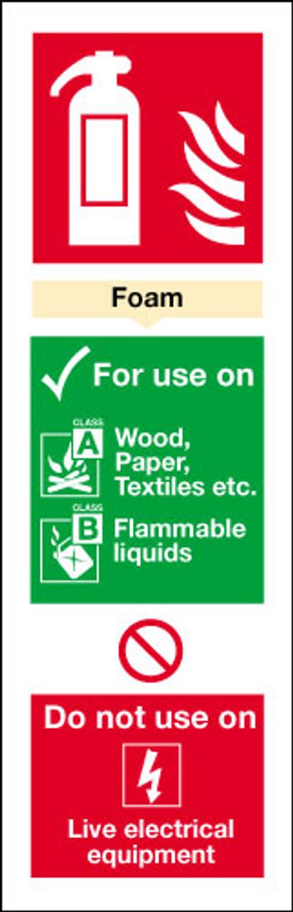 Fire Extinguisher sign  - Foam